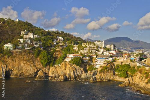 Fotografija  View of rocky coast of Acapulco, Mexico