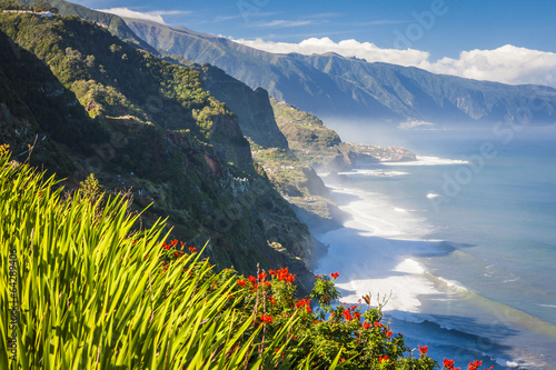 Foto op Aluminium Eiland northern coast near Boaventura, Madeira island, Portugal