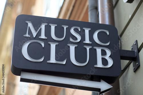 Music club signboard Canvas Print