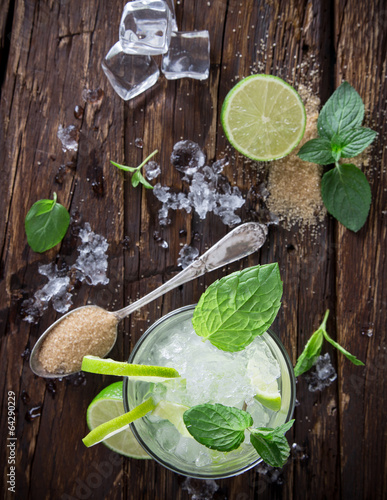fresh mojito drink Canvas Print