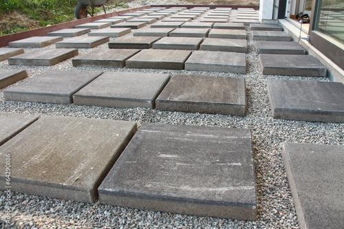 Baustelle Terrasse Bauen Platten Verlegen Iii Buy This Stock Photo