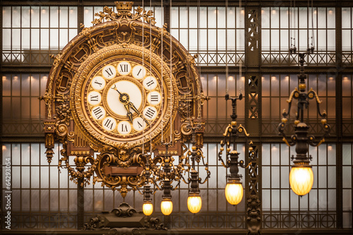 Clock at Orsay Museum, Paris Fototapet