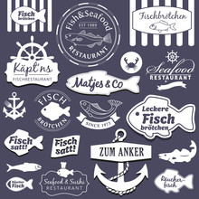 Vector Set Fish&Seafood Restau...