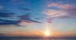 Sunset. Cloudscape.