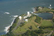 Aerial View Of Radome Antenna Northern Puerto Rico