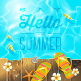 Vector Vacation illustration with summer holidays greeting