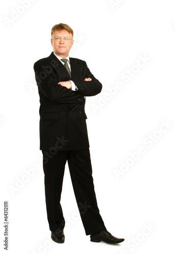 Fotografie, Obraz  A full length portrait of businessman standing