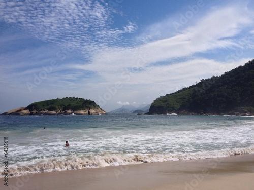 Beach Piratininga island Niteroi Rio de Janeiro Poster