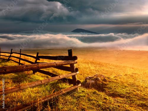 Foto op Plexiglas Zalm Fence - Durmitor National Park in Montenegro