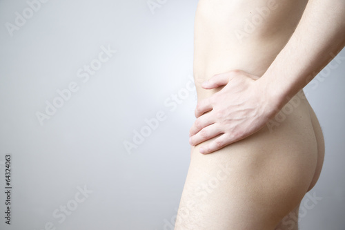Pain in left side of body - Buy this stock photo and explore
