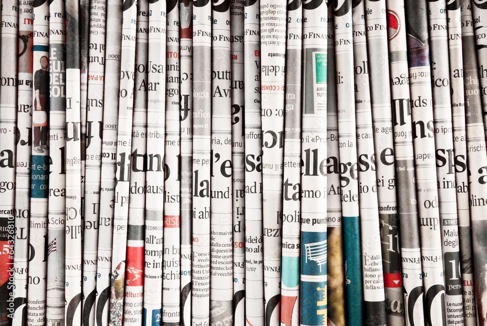 Fototapeta collezione di quotidiani