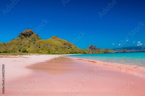 Foto op Aluminium Indonesië Pink beach, Indonesia