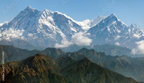 Wall Murals Nepal view of Annapurna Himal from Jaljala pass - Nepal - Asia