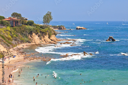 Cuadros en Lienzo Little Corona Del Mar Beach - Newport Beach, California