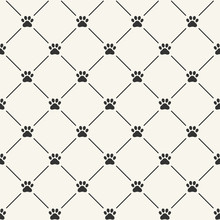 Simple Seamless Vector Pattern With Paw Prints
