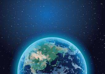 Fototapeta kula ziemska z kosmosu