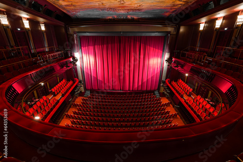 obraz dibond theater interior