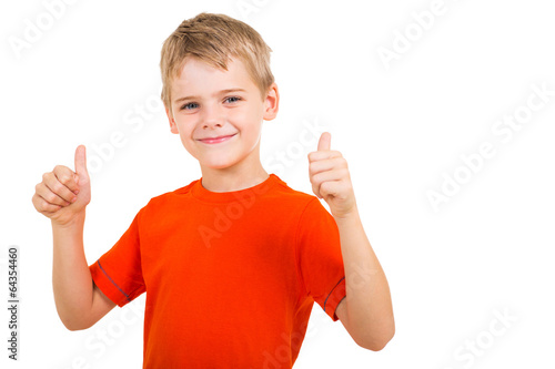 Fotografie, Obraz  young boy showing thumbs up gesture