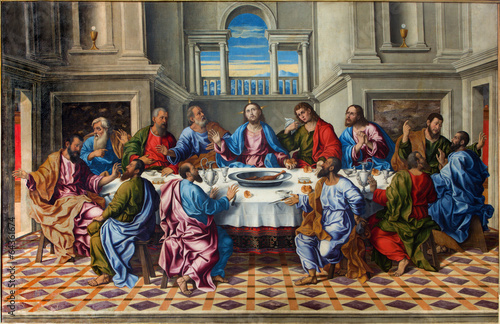 Fotografia  Venice - Last supper of Christ by Girolamo da Santacroce