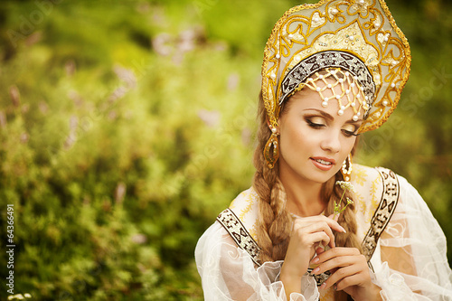 Poster Gypsy Beautiful Russian princess from a fairy tale