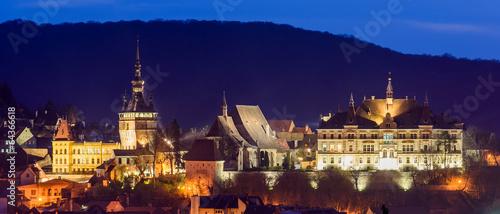 Fotografie, Obraz  Sighisoara, at night