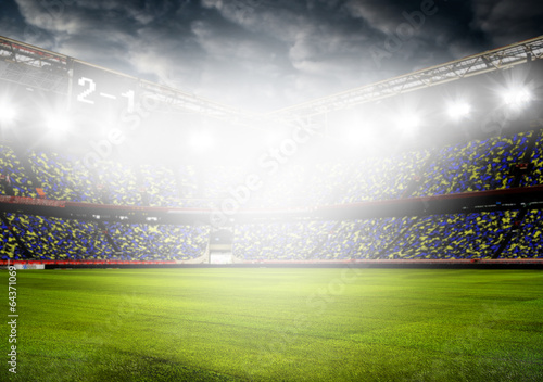 Cadres-photo bureau Stade de football soccer ball