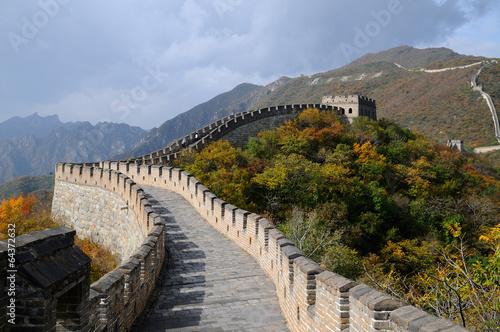 Tuinposter China la grande muraille de chine à Mutianyu