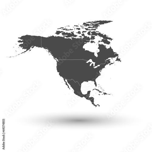 Fotografía  North america map background vector