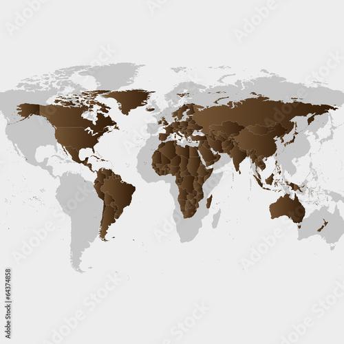 wektor-brazowy-mapa-swiata