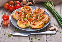 Puff Pastry Rolls With Ham And...