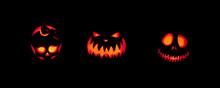 Spooky Jack-o-lanterns Outdoors