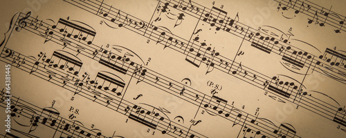 Canvas Print Vintage Sheet Music