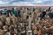 Aerial view of midtown Manhattan skyscrapers