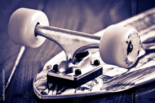 Fotografie, Obraz  Skateboard Close Up
