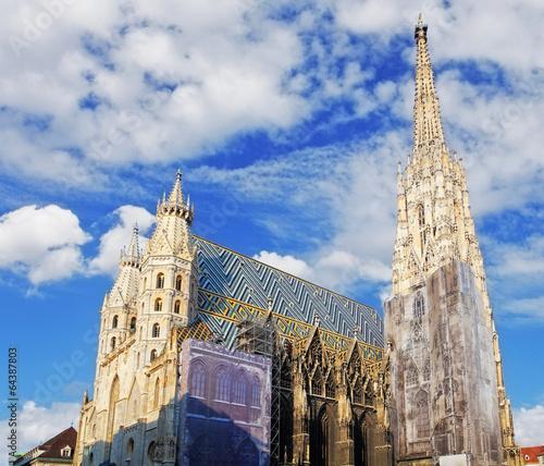 Spoed Fotobehang Wenen St. Stephan cathedral in Vienna, Austria