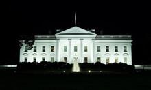 Washington, DC - White House Front Yard At Night