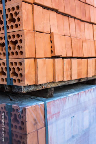 Fototapety, obrazy: Stacks of silicate bricks
