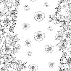 FototapetaSakura seamless pattern.