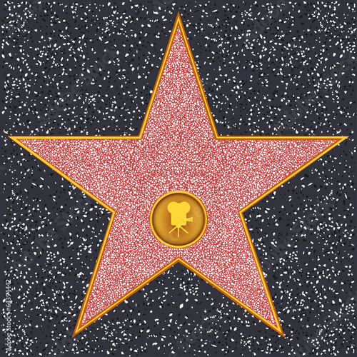 Poster  Star Classic film camera (Hollywood Walk of Fame)