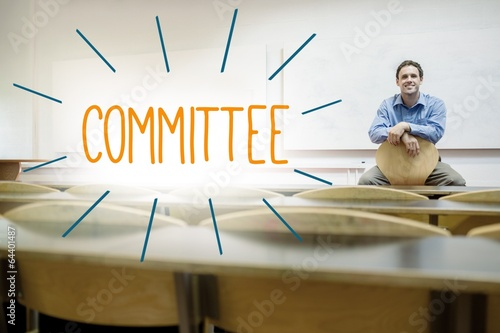Fotografie, Obraz  Committee against lecturer sitting in lecture hall