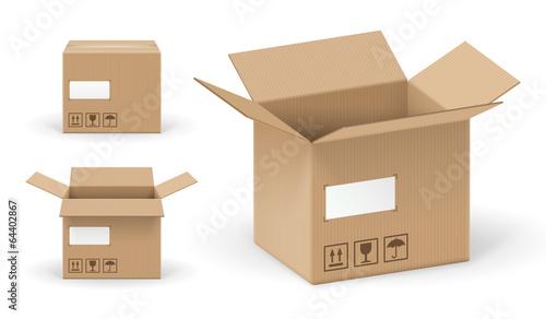 Fotografie, Obraz  Boites en carton vectorielles 2