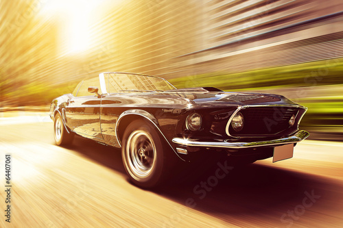 Tuinposter Vintage cars Classic Cabriolet