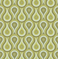 Fototapeta Seamless retro drops background pattern green