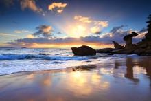 Beach Sunrise At Noraville NSW Australia
