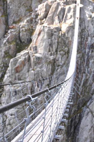 Leinwand Poster  Trift-Brücke, die längste 170m nur für Fußgänger Hängebrücke