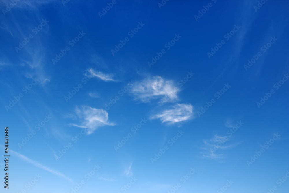 Beautiful sky over horizon and white clouds.