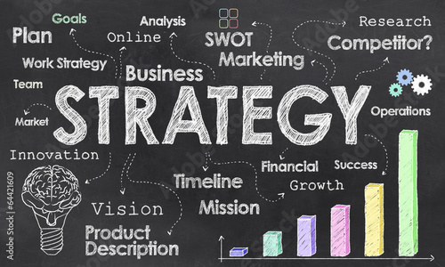Business Strategy   Business Strategy On Blackboard Kaufen Sie Diese Illustration Und