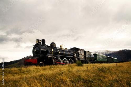 Fotografía  Steam Train in a Open Countryside