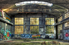 Interior Of A Derelict Industr...