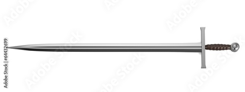 Photographie realistic 3d render of sword